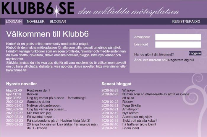 Www Klubb6 Se